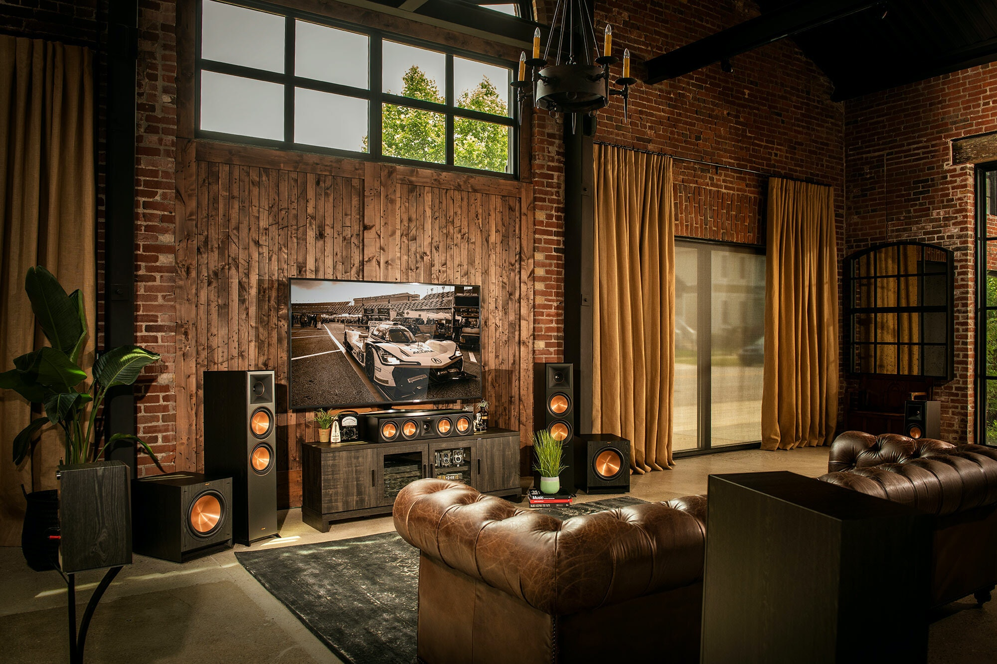 Klipsch Reference Home Theater in living room best home theater