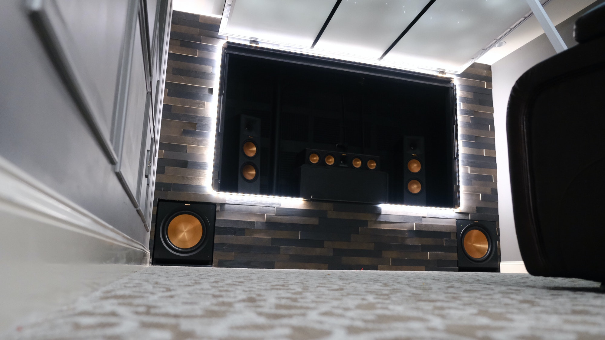 Klipsch Shawn Repp home theater front view