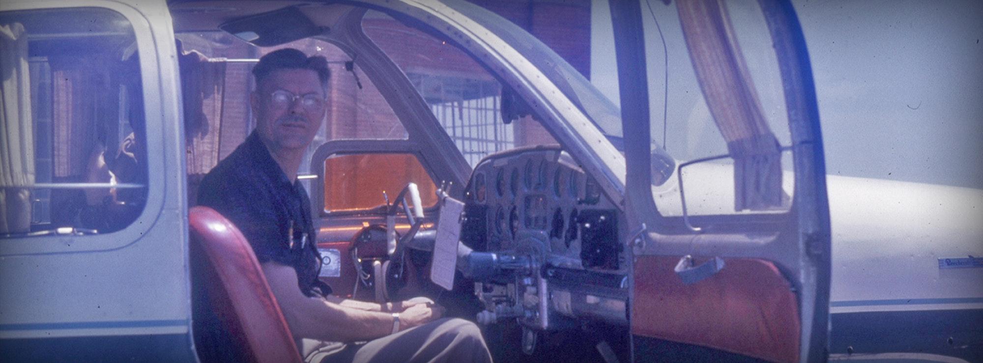 PWK in a plane cockpit