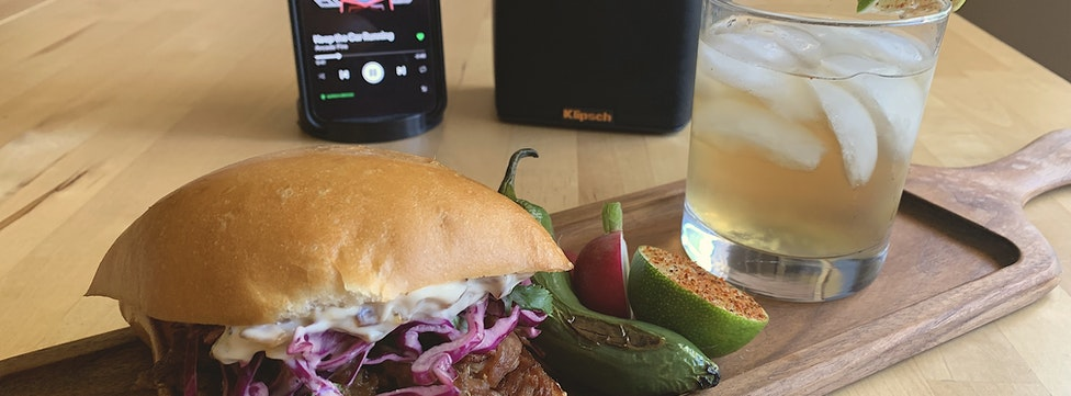 Cooking with Klipsch – Chef Peter's Crispy Pork Carnitas Sandwich
