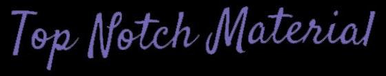 Top Notch Material Logo Black