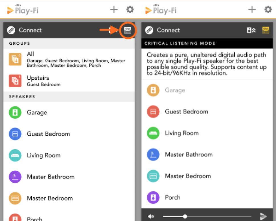 Klipsch Stream App Screenshot Critical Listening Mode