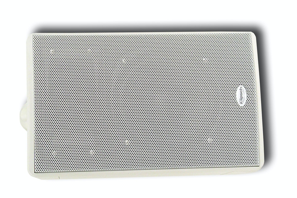 KHO-7 White outdoor speaker with grille