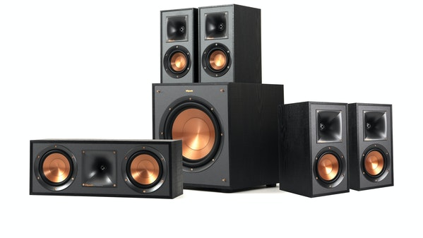 A Klipsch Reference Home Theater System in a 5.1 speaker configuration