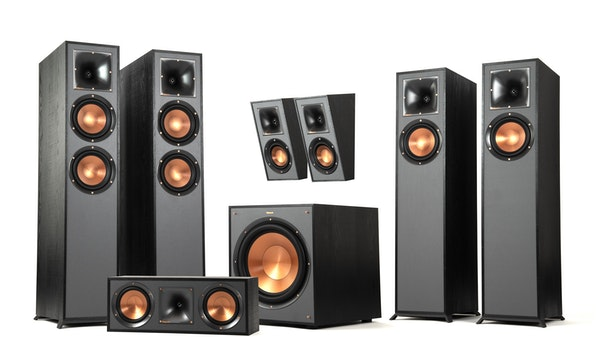 A Klipsch Reference Dolby Atmos Home Theater System in a 5.1 speaker configuration